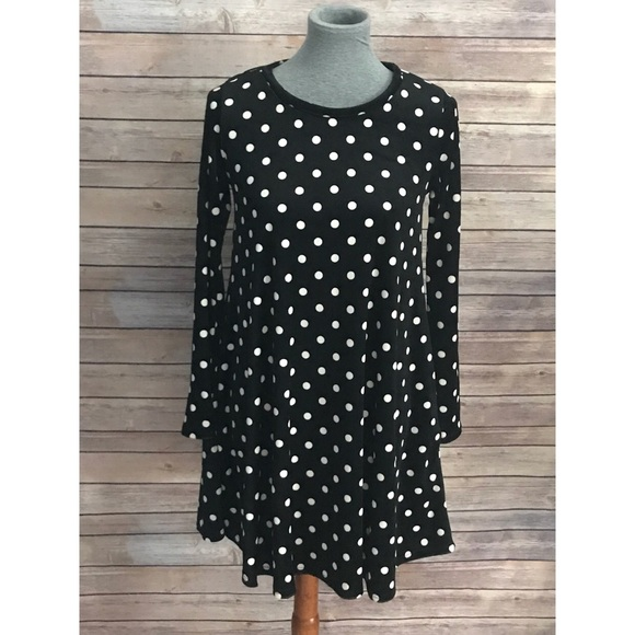 ecdaf29c3ff3 Dresses | Velveteen Polka Dot Tunic Dress Medium | Poshmark